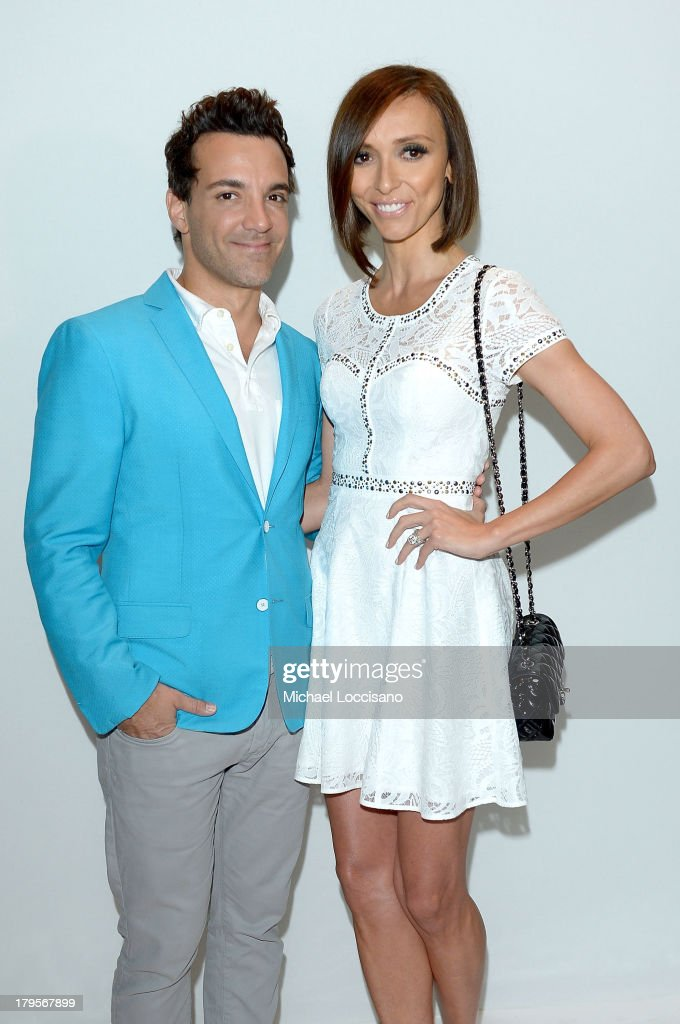 Actor George Kotsiopoulos (L) and television personality iuliana Rancic attend the BCBGMAXAZRIA Spring 2014 fashion show during Mercedes-Benz Fashion Week at The Theatre at Lincoln Center on September 5, 2013 in New York City.