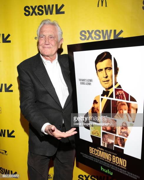 Actor George Lazenby attends the premiere of 'Becoming Bond' during 2017 SXSW Conference and Festivals at Stateside Theater on March 11 2017 in...