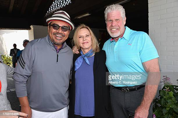 Actor George Lopez actress/SAG Foundation President JoBeth Williams and actor Ron Perlman attend the Screen Actors Guild Foundation 4th Annual Los...