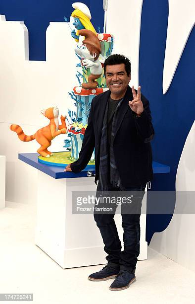 Actor George Lopez attends the premiere of Columbia Pictures' 'Smurfs 2' at Regency Village Theatre on July 28 2013 in Westwood California