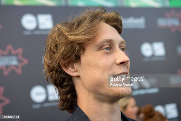 Actor George MacKay answers to an interview during a photocall for the UK Premiere of 'The Secret of Marrowbone' during the 72nd Edinburgh...