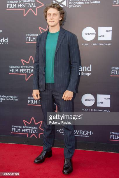 Actor George Mackay attends a photocall for the UK Premiere of 'The Secret of Marrowbone' during the 72nd Edinburgh International Film Festival at...