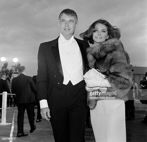 Actor George Peppard and wife actress Elizabeth Ashley attend an event in Los AngelesCA