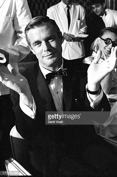 Actor George Peppard at a party for Blue Maxon June 21,1966 in New York, New York.