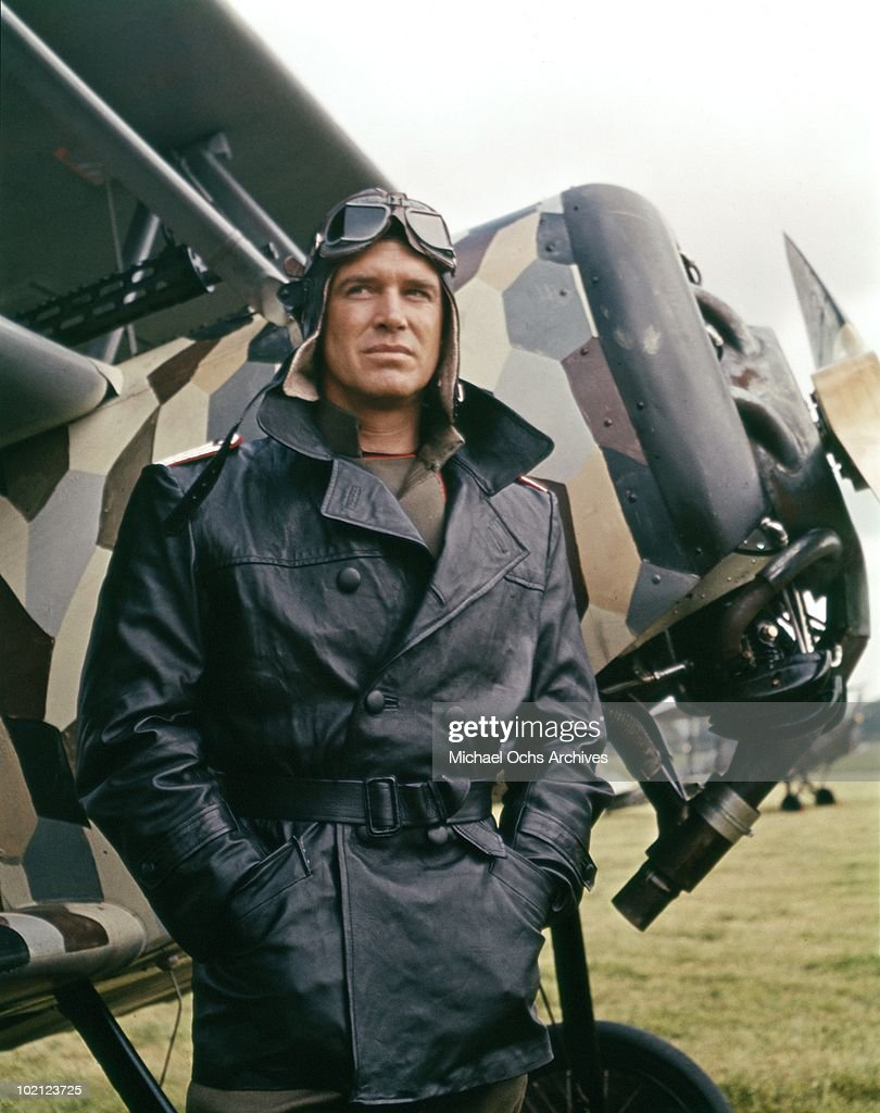 Actor George Peppard in a scene from the movie 'The Blue Max' in 1966 in Ireland.