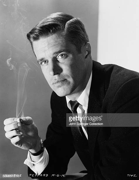 Actor George Peppard with Smoking Cigarette