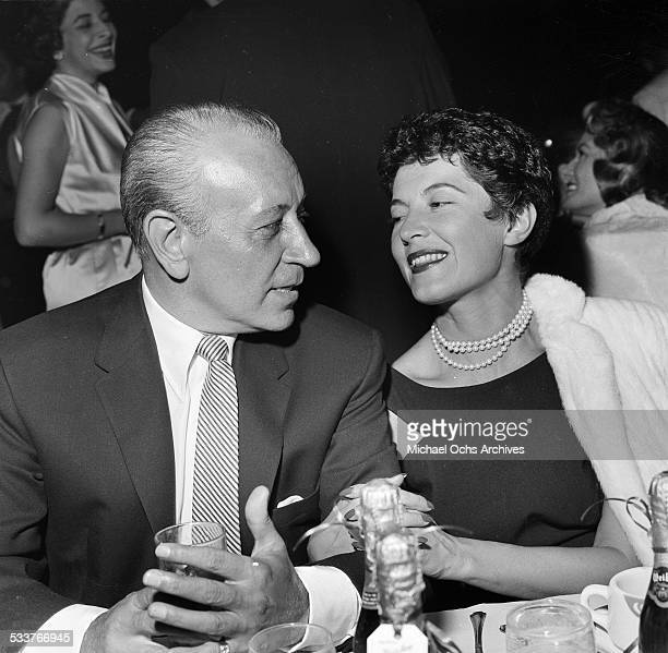 Actor George Raft with his wife Grace Mulroone attend the opening of Moulin Rouge in Los AngelesCA