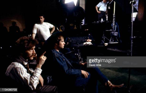 Actor George Segal and actor Rob Reiner on the set of the movie 'Where's Poppa' in May 1970 in Long Island New York