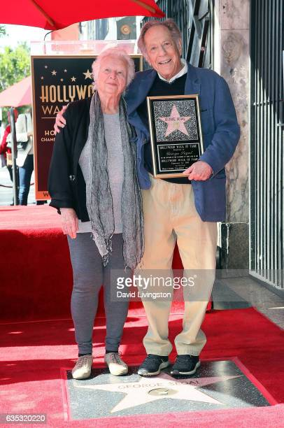 Actor George Segal and wife Sonia Schultz Greenbaum attend his being honored with a Star on the Hollywood Walk of Fame on February 14 2017 in...