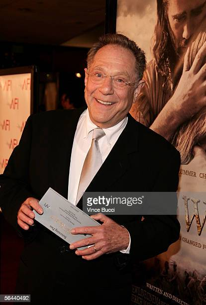 "Actor George Segal arrives at the New Line Cinema premiere of ""The New World"" presented by AFI, held at the Academy of Motion Picture Arts and..."