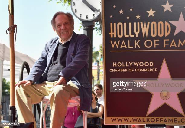 Actor George Segal is honored with a star on The Hollywood Walk Of Fame on February 14 2017 in Los Angeles California