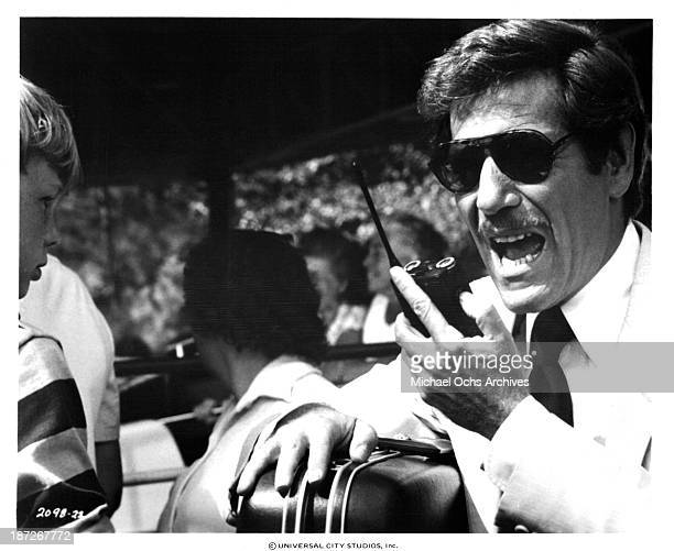 Actor George Segal on set of Universal Pictures movie Rollercoaster in 1977
