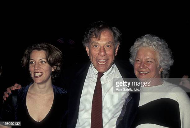 Actor George Segal wife Sonia Schultz Greenbaum and daughter Polly Segal attending the premiere of 'The Mirror Has Two Faces' on November 10 1996 at...