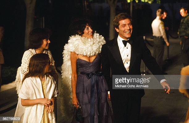 Actor George Segal with wife Marion Sobel and kids Polly and Elizabeth arrive to the 48th Academy Awards at Dorothy Chandler Pavilion in Los...