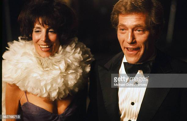 Actor George Segal with wife Marion Sobel arrive to the 48th Academy Awards at Dorothy Chandler Pavilion in Los Angeles,California.