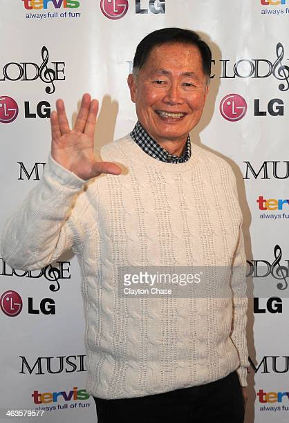 Actor George Takai attends The 10th Anniversary LG Music Lodge At Sundance With Elio Motors And Tervis on January 18 2014 in Park City Utah