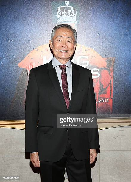 Actor George Takai attends the Broadway Opening Night of 'King Charles III' at the Music Box Theatre on November 1 2015 in New York City