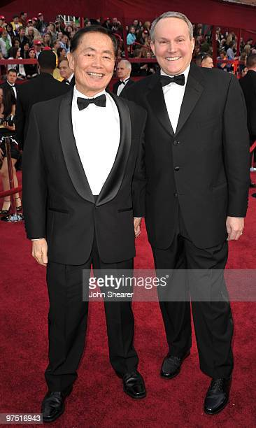 Actor George Takei and husband Brad Altman arrive at the 82nd Annual Academy Awards held at Kodak Theatre on March 7 2010 in Hollywood California
