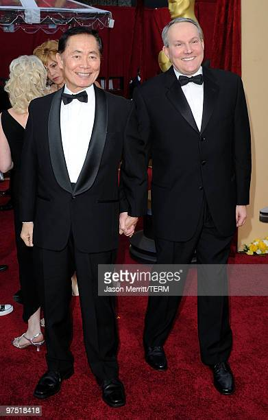 Actor George Takei and husband Brad Altman arrives at the 82nd Annual Academy Awards held at Kodak Theatre on March 7 2010 in Hollywood California