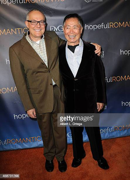 Actor George Takei and husband Brad Takei arrive for the Special Screening of Matt Zarley's hopefulROMANTIC With George Takei held at American Film...