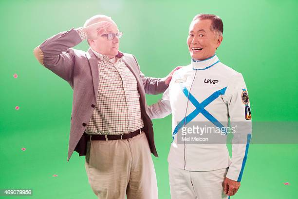 MONICA CA MARCH 07 2015 Actor George Takei and husband Brad Tekai are photographed for Los Angeles Times on April 6 2015 in Hollywood California...