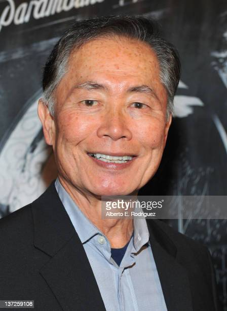 Actor George Takei arrives to the Academy of Motion Picture Arts Sciences' celebration for Paramount Pictures' 100th Anniversary at the Academy of...