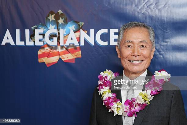 Actor George Takei attends the 'Allegiance' Broadway opening night after party at Bryant Park Grill on November 8 2015 in New York City