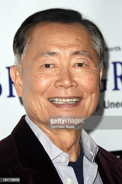 Actor George Takei attends the 'Bridegroom' Los Angeles premiere held at the AMPAS Samuel Goldwyn Theater on October 15 2013 in Beverly Hills...