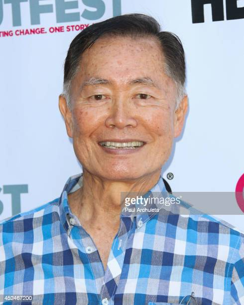 Actor George Takei attends the Outfest panel discussion of 'It Got Better' at The DGA Theater on July 20 2014 in Los Angeles California