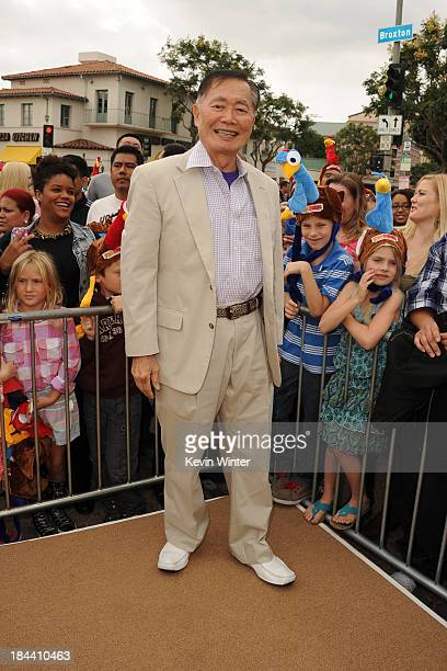 "Actor George Takei attends the premiere of Relativity Media's ""Free Birds"" at Westwood Village Theatre on October 13, 2013 in Westwood, California."