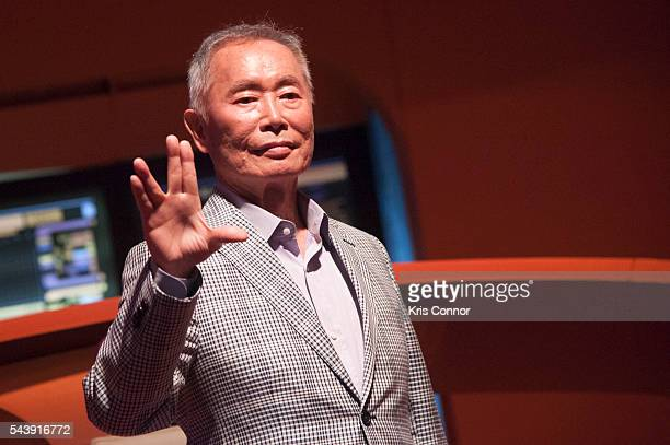 Actor George Takei attends the 'Star Trek The Star Fleet Academy Experience Preview ' at Intrepid SeaAirSpace Museum on June 30 2016 in New York City