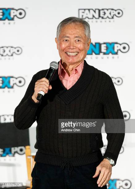 Actor George Takei speaks on stage during day 2 of Fan Expo Vancouver at Vancouver Convention Centre on March 02 2019 in Vancouver Canada