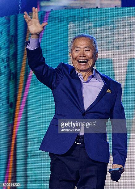 Actor George Takei speaks onstage during 'WE Day Vancouver' at Rogers Arena on November 3, 2016 in Vancouver, Canada.