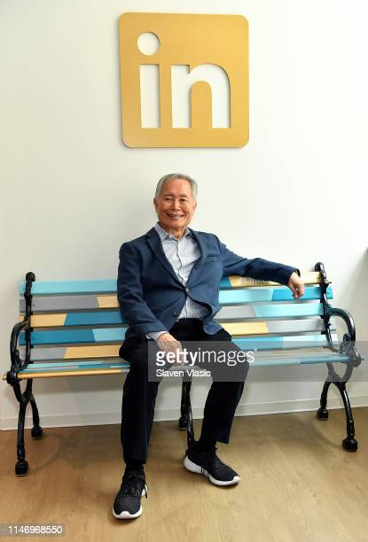 Actor George Takei visits LinkedIn at LinkedIn Studios on May 30 2019 in New York City