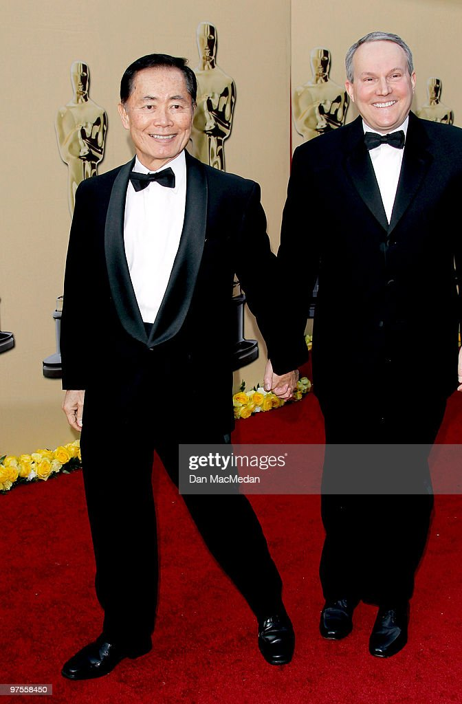 Actor George Tekai (L) and his partner attend the 82nd Annual Academy Awards held at the Kodak Theater on March 7, 2010 in Hollywood, California.