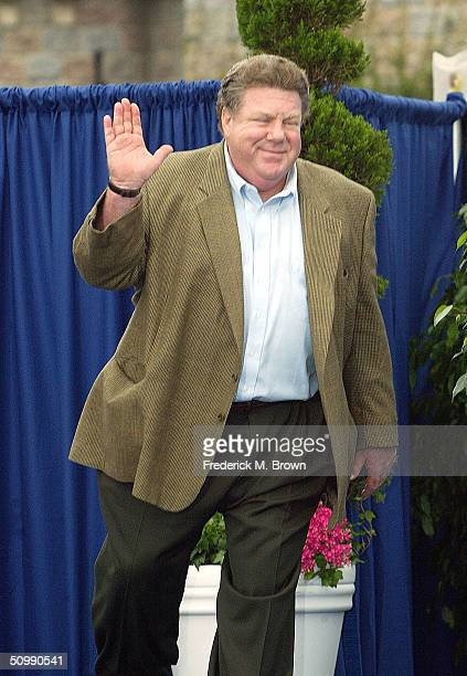 Actor George Wendt attends the ceremony honoring Mickey Mouse and friends on new stamps postal cards and stationery on June 23 2004 at Disneyland in...