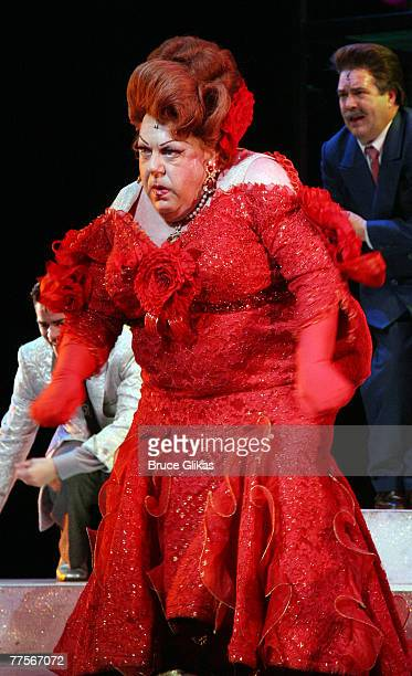 """Actor George Wendt, known as """"Norm"""" from the NBC comedy """"Cheers"""", performs as he makes his debut as """"Edna Turnblad"""" in the hit musical """"Hairspray"""" on..."""