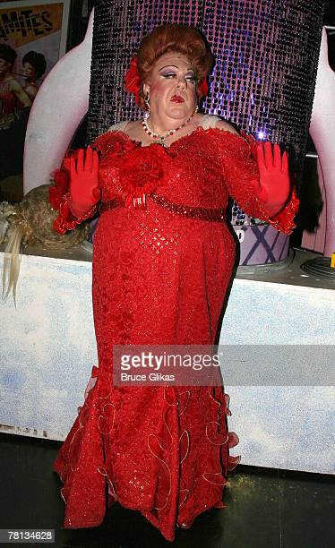 """Actor George Wendt known as """"Norm"""" from The NBC Comedy """"Cheers"""", poses as he makes his debut as """"Edna Turnblad"""" in the hit musical """"Hairspray"""" on..."""