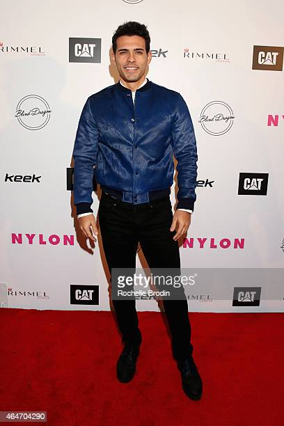 Actor Geovanni Gopradi attends NYLON Magazine's Spring Fashion Issue Celebration hosted by Rita Ora at Blind Dragon on February 27, 2015 in West...