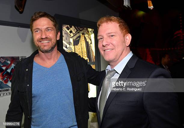 Actor Gerard and Relativity Media CEO Ryan Kavanaugh attend Relativity Media's 'Movie 43' Los Angeles Premiere After Party held at Madame Tussauds...