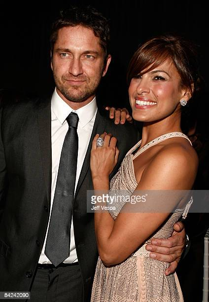 Actor Gerard Butler and actress Eva Mendes attend The Art of Elysium 2nd Annual Heaven Gala held at Vibiana on January 10, 2009 in Los Angeles,...