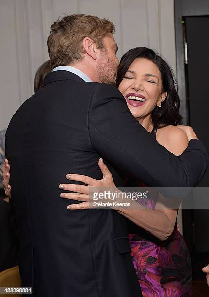Actor Gerard Butler and actress Shohreh Aghdashloo attend the Septembers of Shiraz TIFF Party Hosted By GREY GOOSE Vodka at Byblos on September 15...