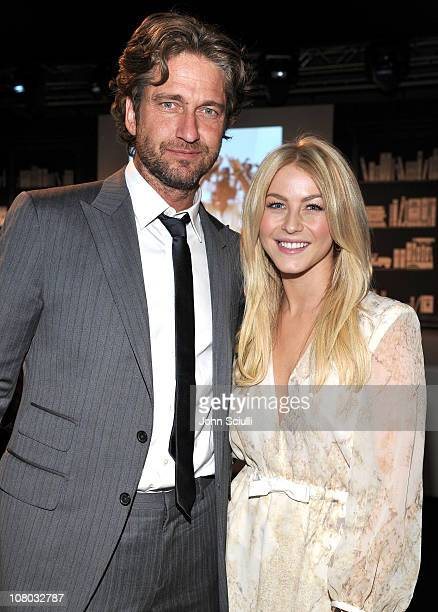 Actor Gerard Butler and dancer Julianne Hough attend the Bvlgari private event honoring Simon Fuller and Paul Haggis to benefit Save The Children and...