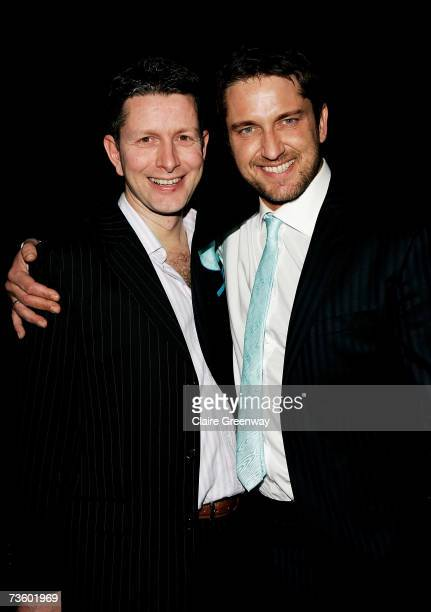 Actor Gerard Butler and his brother attend the afterparty following the UK premiere of '300' at Sketch on March 15 2007 in London England