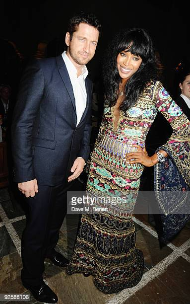 Actor Gerard Butler and model Naomi Campbell attend the grand opening night of the Kerzner Mazagan Beach Resort on October 31 2009 in El Jadida...