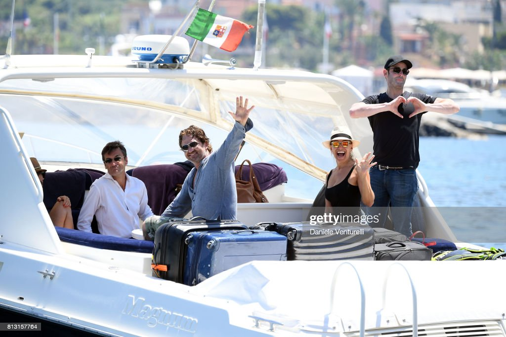 Actor Gerard Butler and tv presenter Barbara D'Urso attends 2017 Ischia Global Film & Music Fest on July 12, 2017 in Ischia, Italy.