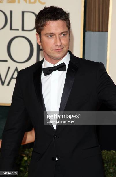 Actor Gerard Butler arrives at the 66th Annual Golden Globe Awards held at the Beverly Hilton Hotel on January 11 2009 in Beverly Hills California