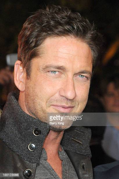 Actor Gerard Butler arrives at the Los Angeles Premiere of Chasing Mavericks at Pacific Theaters at the Grove on October 18 2012 in Los Angeles...