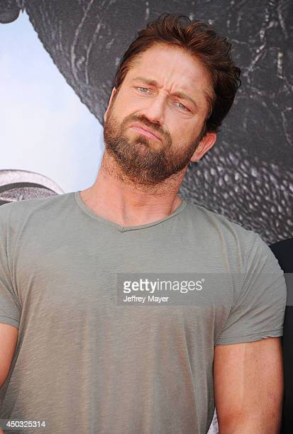 Actor Gerard Butler arrives at the Los Angeles premiere of 'How To Train Your Dragon 2' at the Regency Village Theatre on June 8 2014 in Westwood...