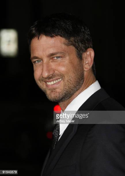 Actor Gerard Butler arrives at the Los Angeles premiere of Law Abiding Citizen at Grauman's Chinese Theatre on October 6 2009 in Hollywood California